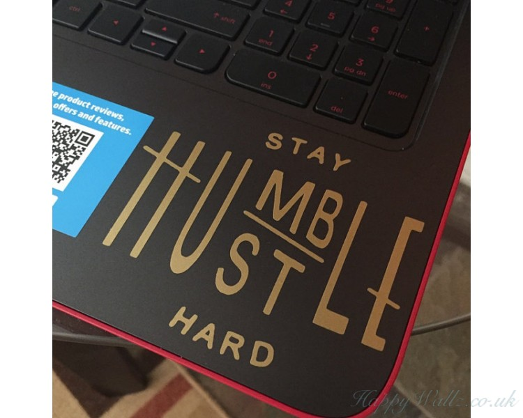 stay humble hustle hard - Laptop - Ipad - Glass decal